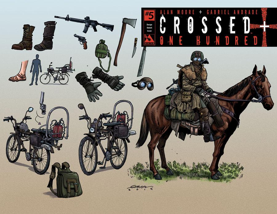 Crossed Plus 100 #5 Cover H Incentive Design Sketch Cover