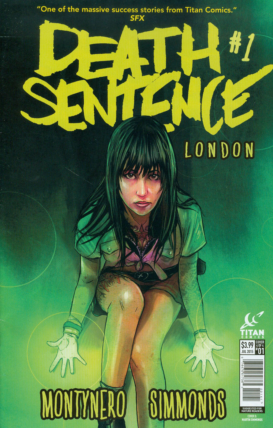 Death Sentence London #1 Cover D Incentive Martin Simmonds Variant Cover
