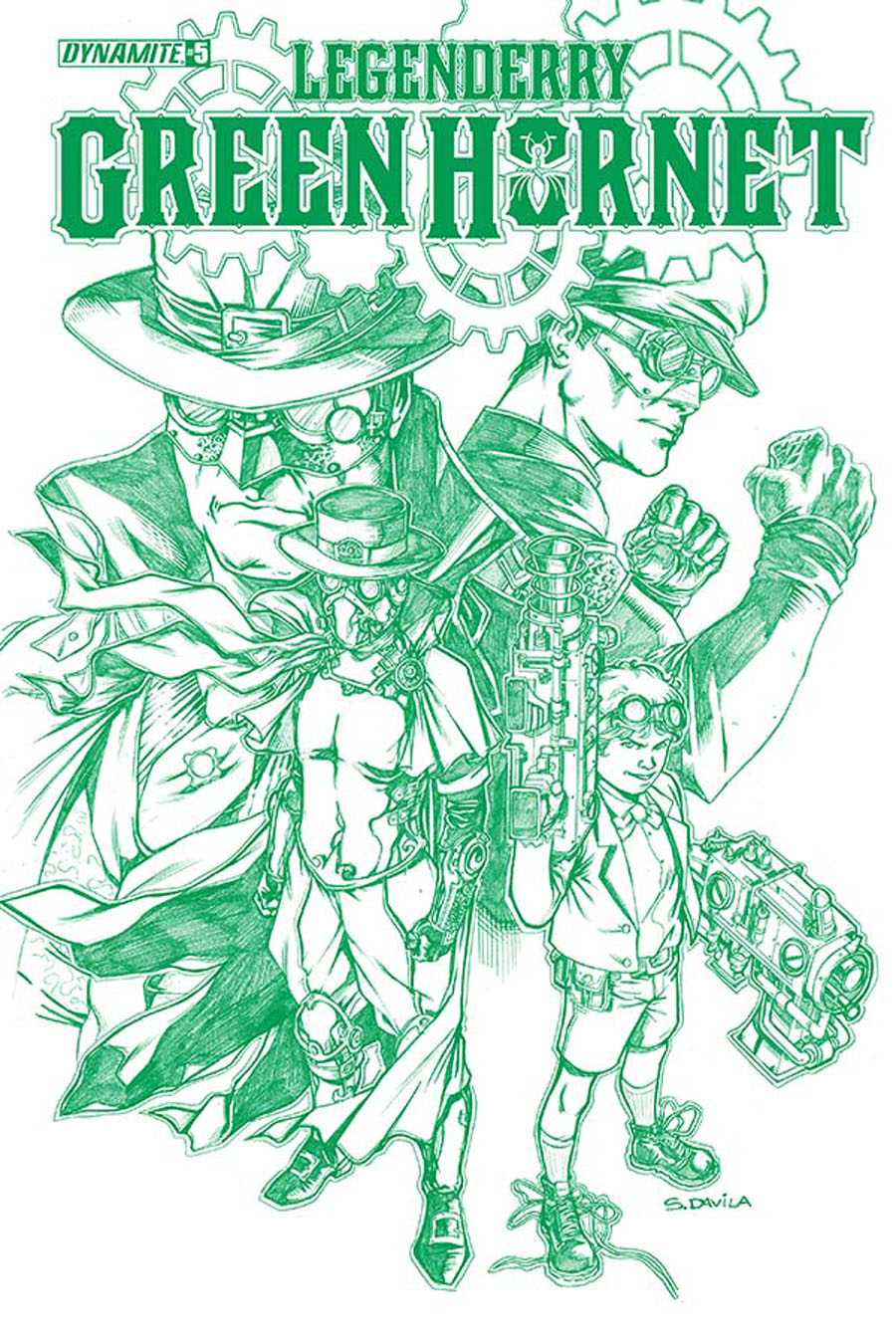 Legenderry Green Hornet #5 Cover D High-End Sergio Fernandez Davila Hornet Green Ultra-Limited Variant Cover (ONLY 50 COPIES IN EXISTENCE!)