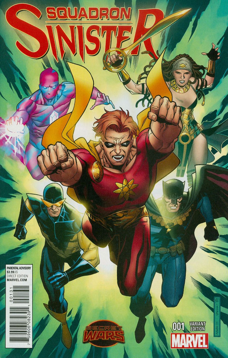 Squadron Sinister #1 Cover G Incentive Jim Cheung Variant Cover (Secret Wars Warzones Tie-In)