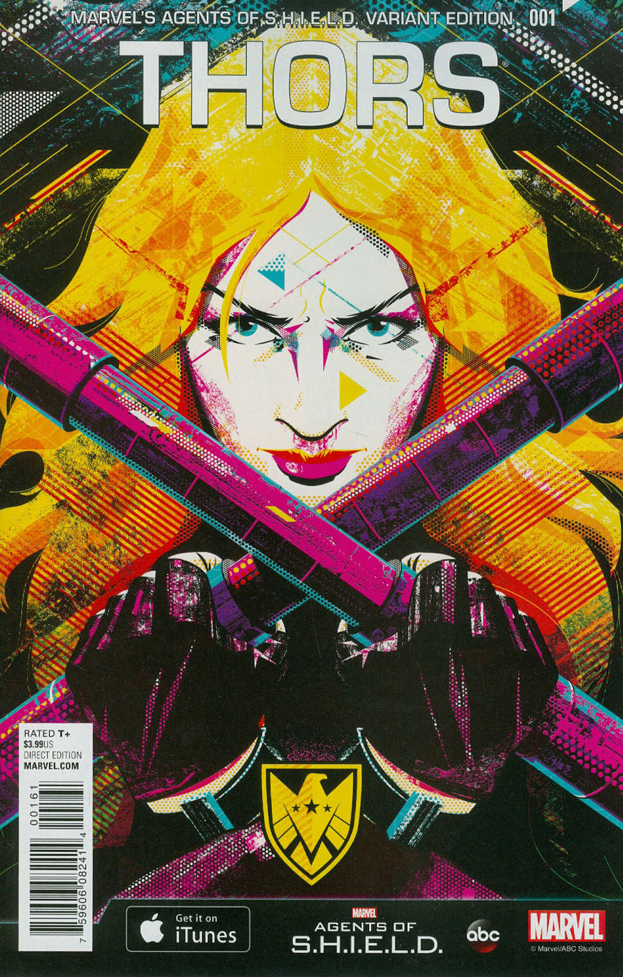 Thors #1 Cover E Incentive Delicious Design League Marvels Agents Of S.H.I.E.L.D. Variant Cover (Secret Wars Battleworld Tie-In)