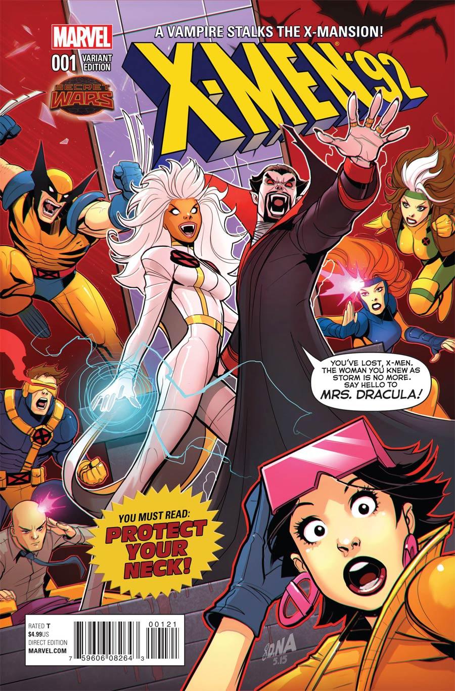 X-Men 92 #1 Cover F Incentive Variant Cover (Secret Wars Warzones Tie-In)
