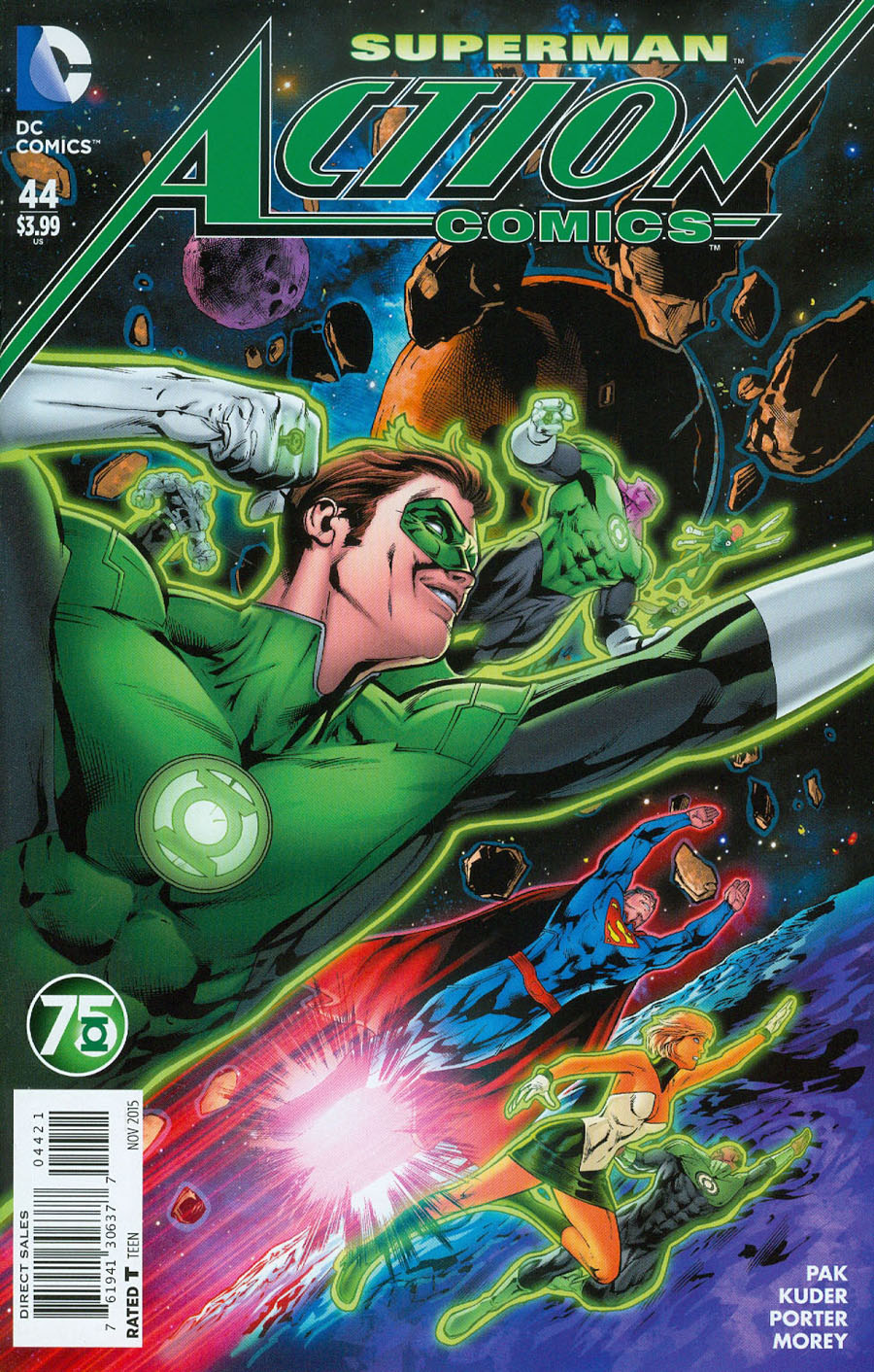 Action Comics Vol 2 #44 Cover B Variant Neil Edwards Green Lantern 75th Anniversary Cover (Truth Tie-In)