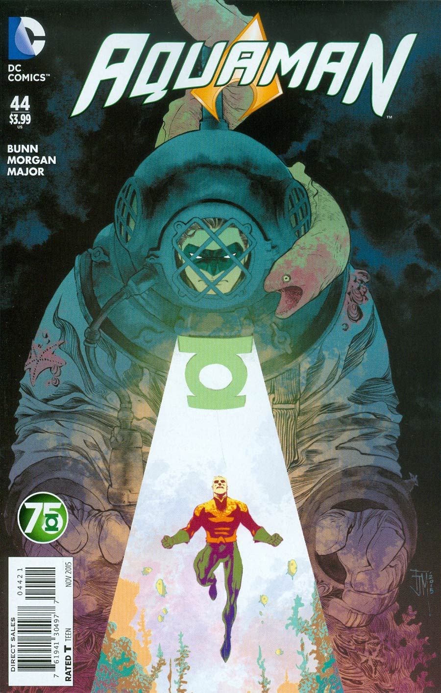 Aquaman Vol 5 #44 Cover B Variant Francis Manapul Green Lantern 75th Anniversary Cover