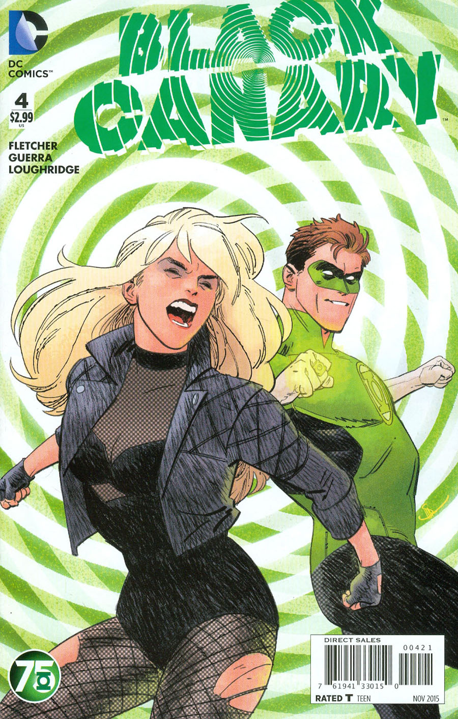 Black Canary Vol 4 #4 Cover B Variant Evan Doc Shaner Green Lantern 75th Anniversary Cover