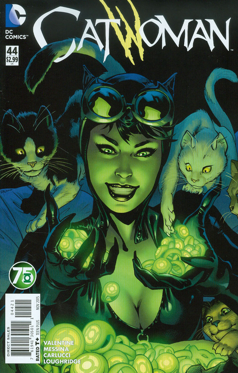 Catwoman Vol 4 #44 Cover B Variant Emanuela Lupacchino Green Lantern 75th Anniversary Cover