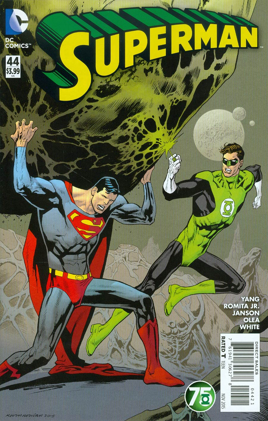 Superman Vol 4 #44 Cover B Variant Kevin Nowlan Green Lantern 75th Anniversary Cover (Truth Tie-In)