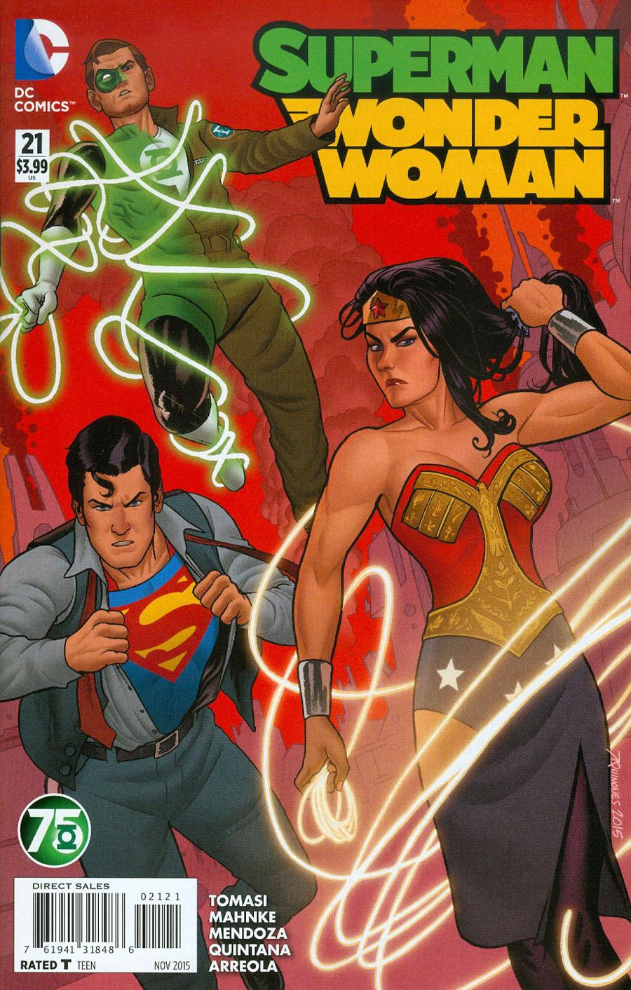 Superman Wonder Woman #21 Cover B Variant Joe Quinones Green Lantern 75th Anniversary Cover (Truth Tie-In)
