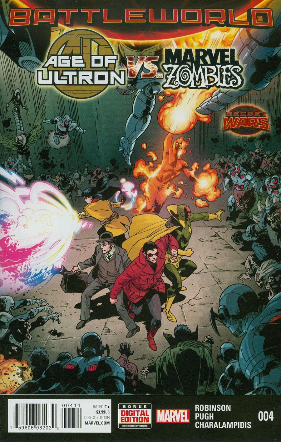 Age Of Ultron vs Marvel Zombies #4 (Secret Wars Battleworld Tie-In)