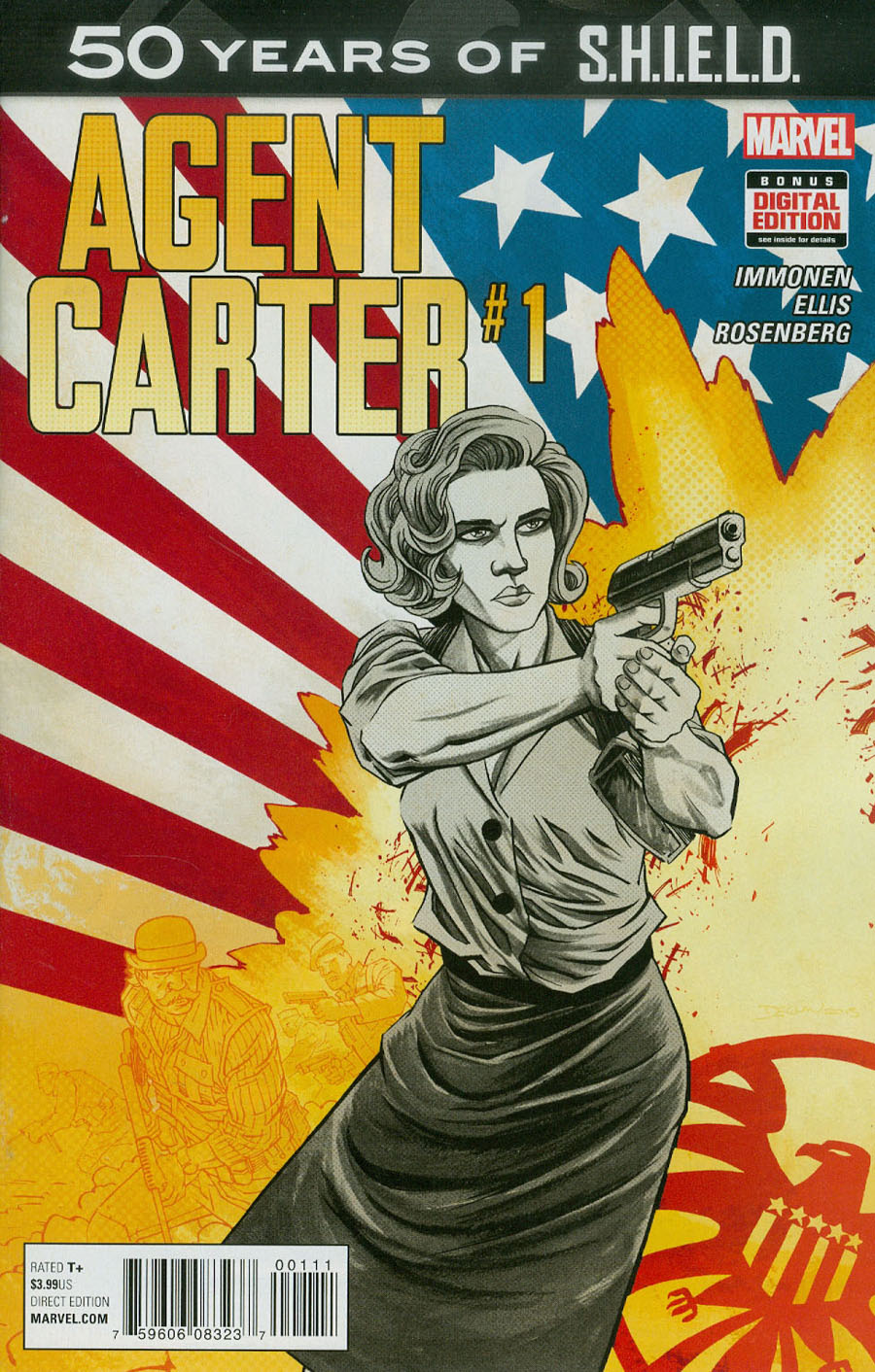 Agent Carter S.H.I.E.L.D. 50th Anniversary #1 Cover A Regular Declan Shalvey Cover