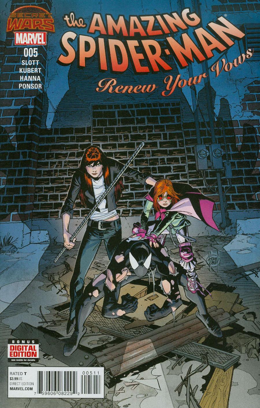 Amazing Spider-Man Renew Your Vows #5 Cover A Regular Adam Kubert Cover (Secret Wars Warzones Tie-In)