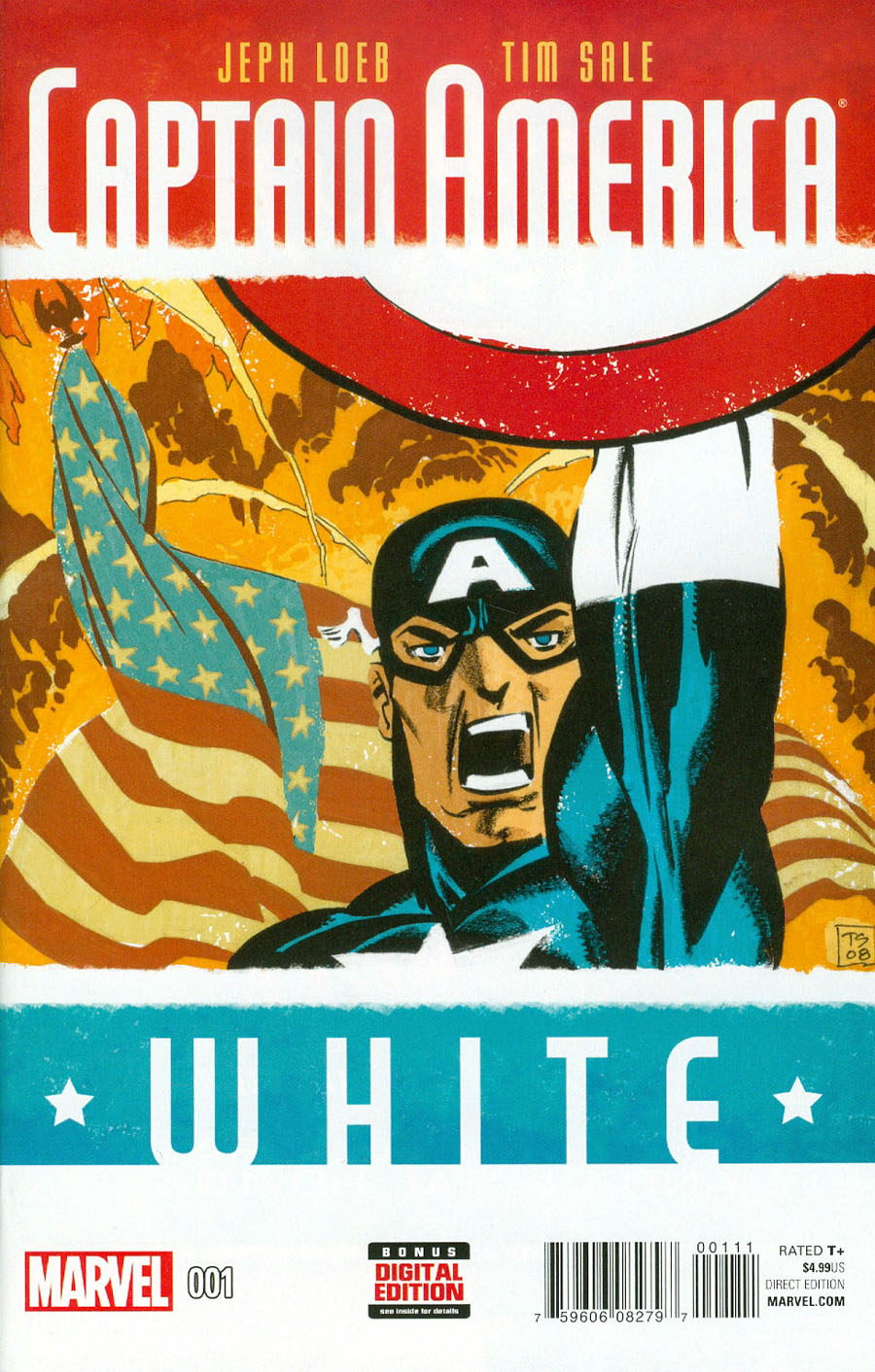 Captain America White #1 Cover A Regular Tim Sale Cover