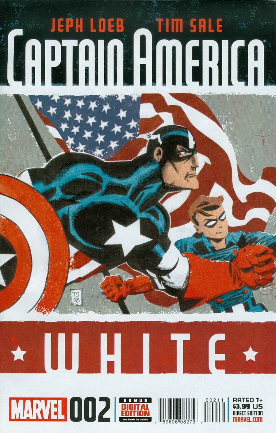 Captain America White #2 Cover A Regular Tim Sale Cover