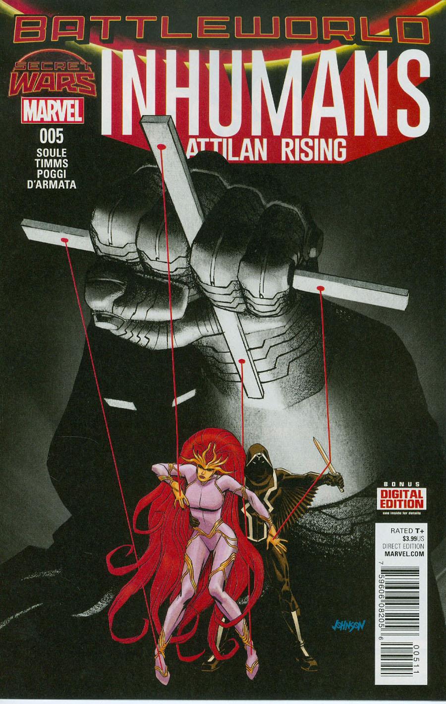 Inhumans Attilan Rising #5 Cover A Regular Dave Johnson Cover (Secret Wars Battleworld Tie-In)
