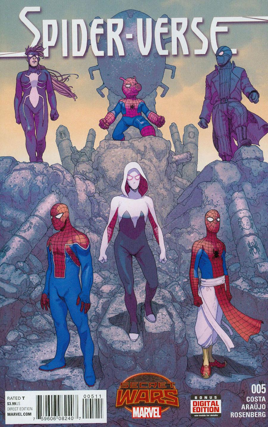 Spider-Verse Vol 2 #5 Cover A Regular Andre Araujo Cover (Secret Wars Warzones Tie-In)