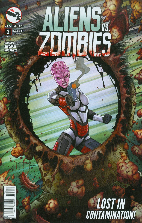 Aliens vs Zombies #3 Cover A Jason Metcalf