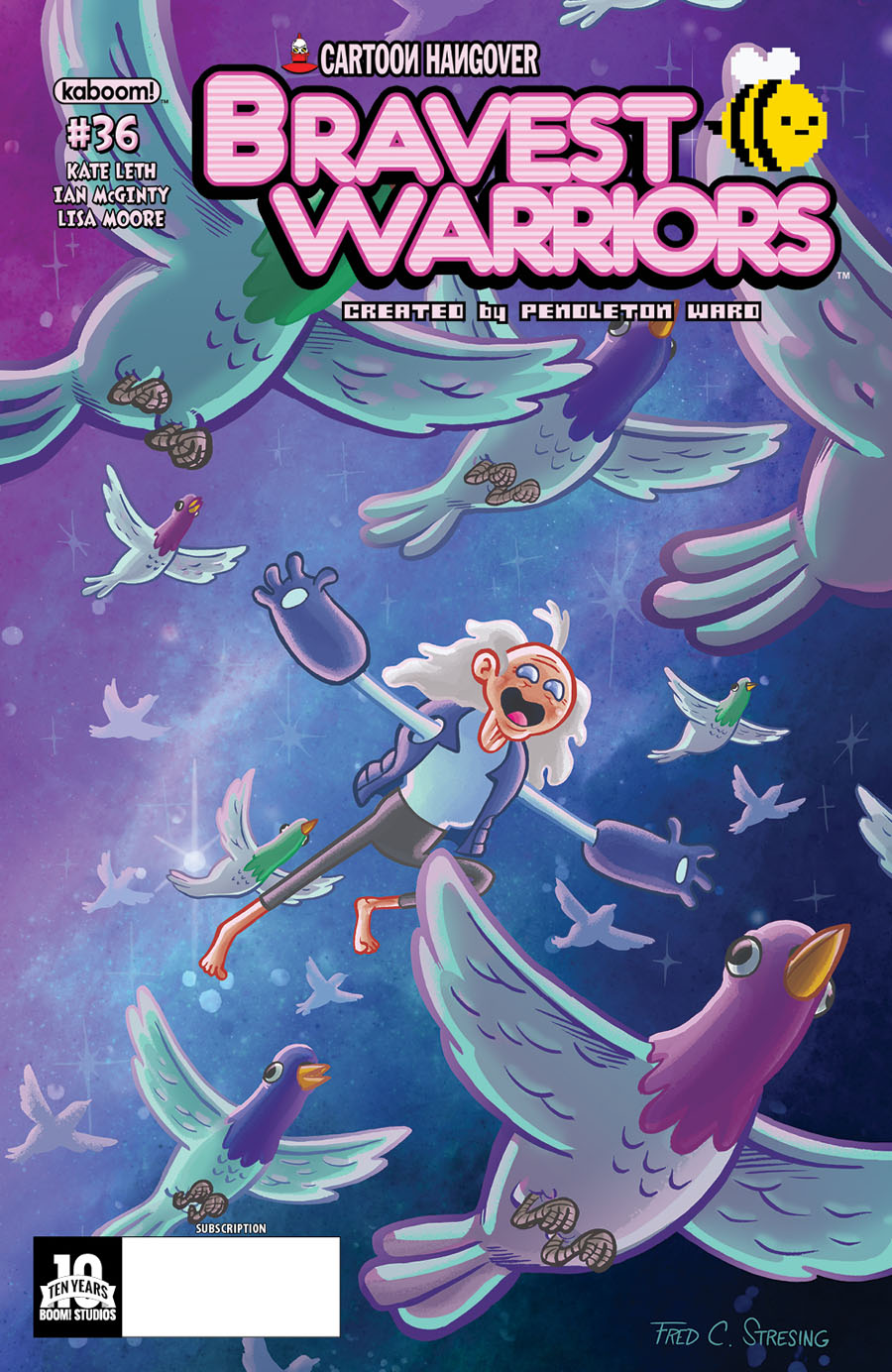Bravest Warriors #36 Cover B Variant Fred Stresing Subscription Cover
