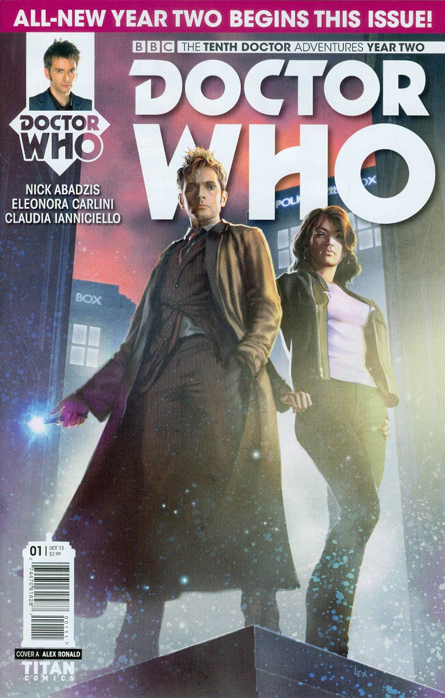 Doctor Who 10th Doctor Year Two #1 Cover A Regular Alex Ronald Cover