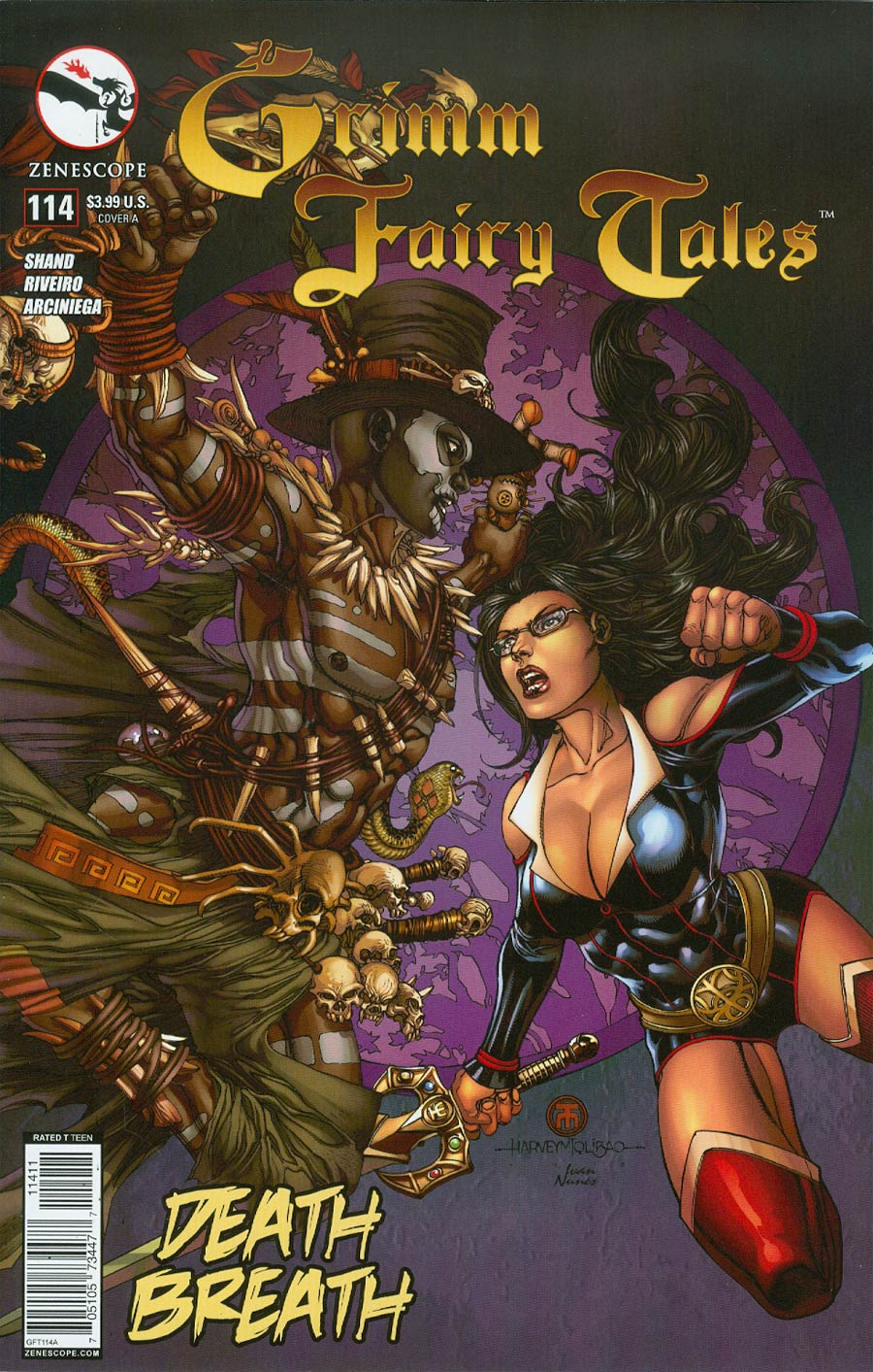 Grimm Fairy Tales #114 Cover A Harvey Tolibao