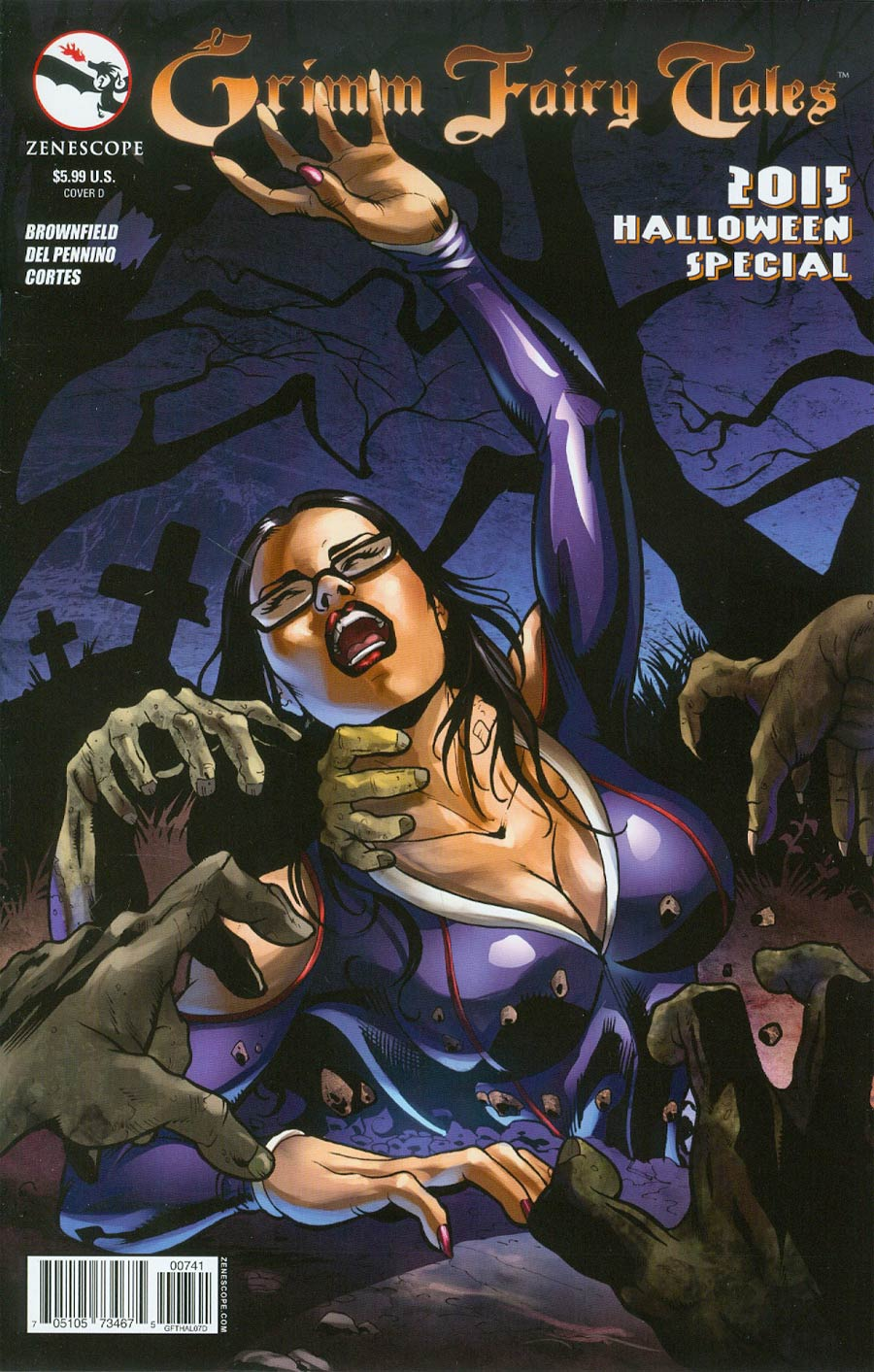 Grimm Fairy Tales Halloween Special 2015 Cover D Maria Sanapo