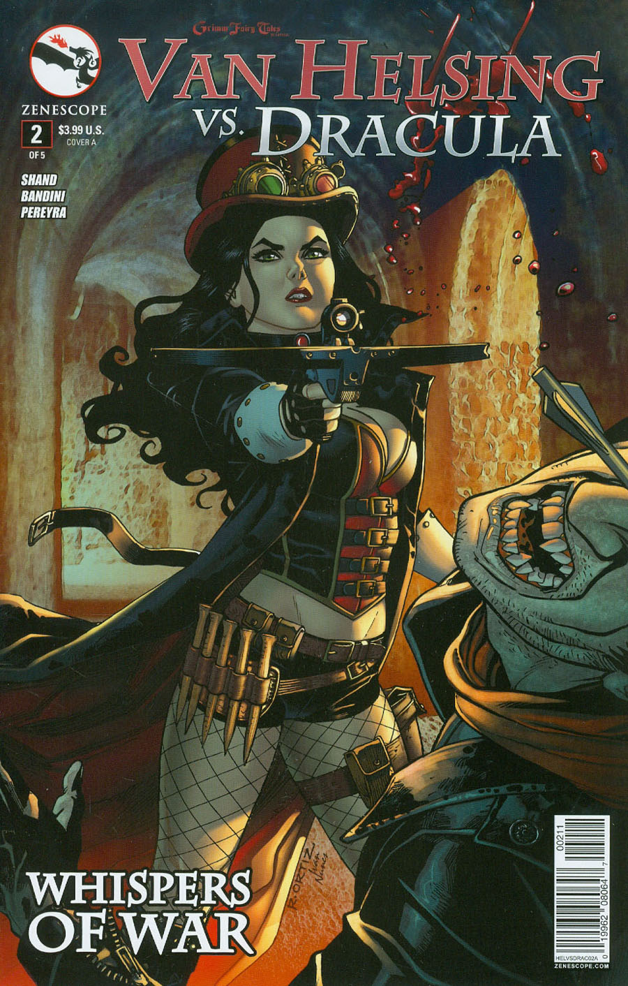Grimm Fairy Tales Presents Van Helsing vs Dracula #2 Cover A Richard Ortiz