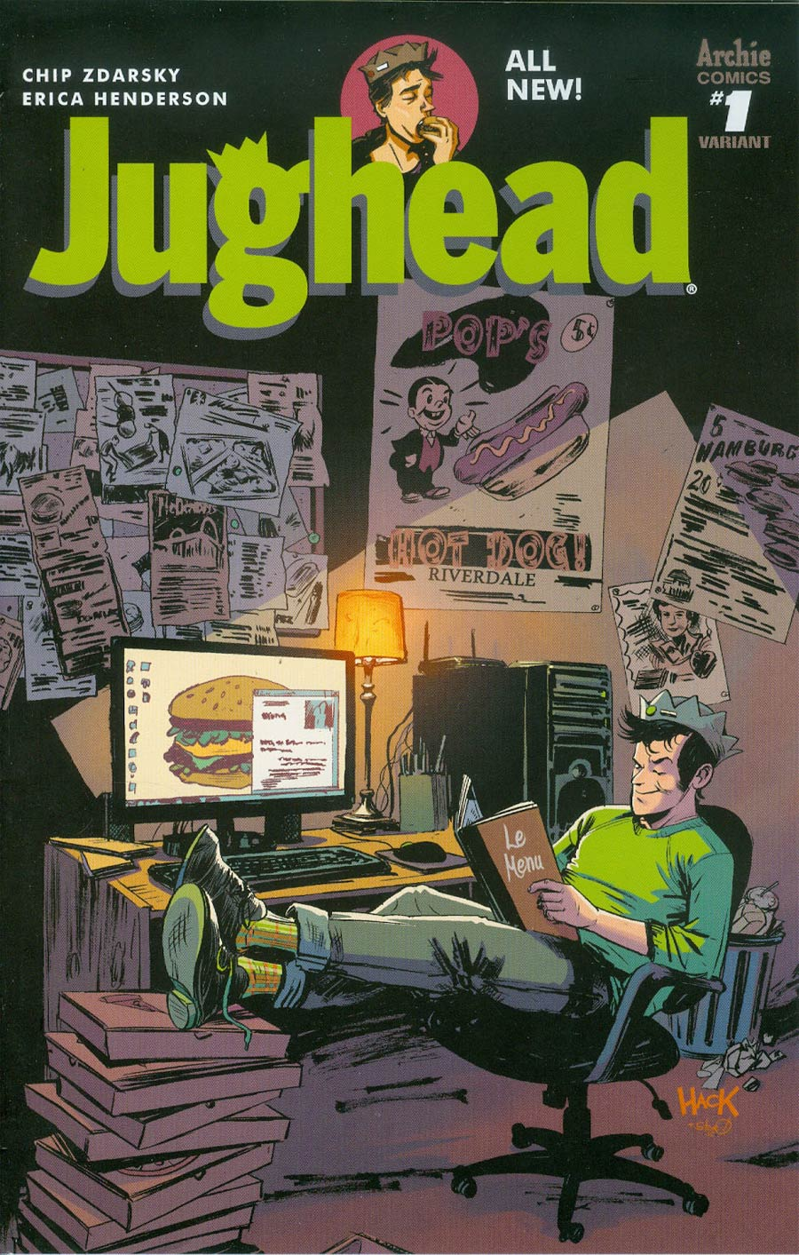 Jughead Vol 3 #1 Cover D Variant Robert Hack Cover