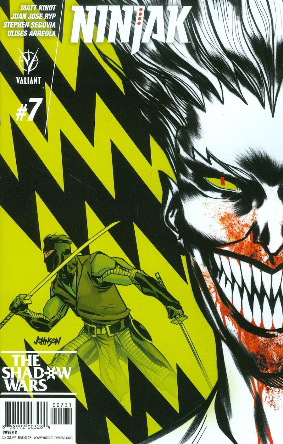 Ninjak Vol 3 #7 Cover C Variant Dave Johnson Cover