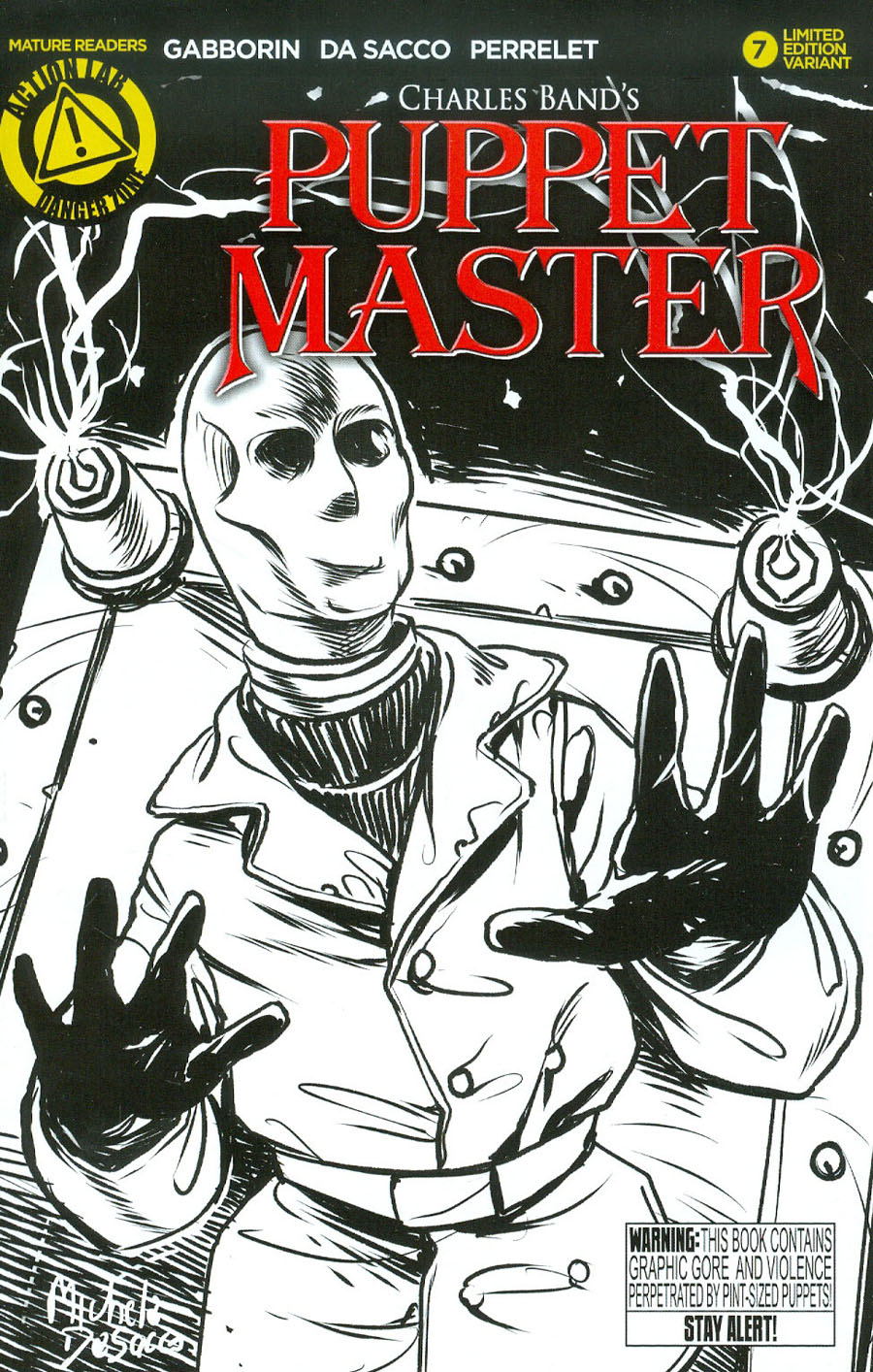 Puppet Master #7 Cover C Variant Decapitron Sketch Cover