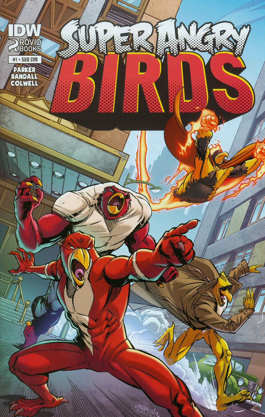 Angry Birds Super Angry Birds #1 Cover B Variant Marcelo Ferreira Subscription Cover