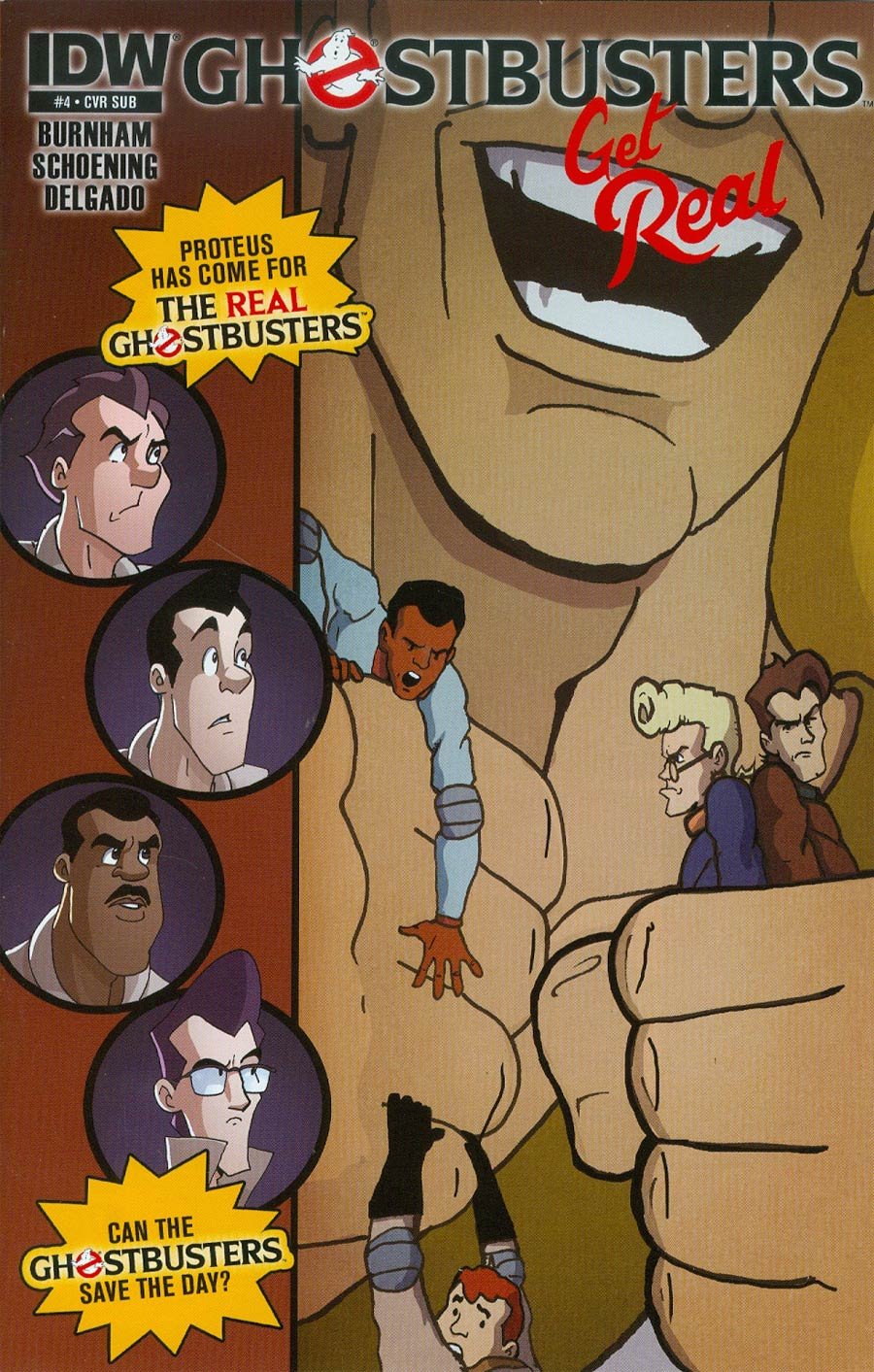Ghostbusters Get Real #4 Cover B Variant Erik Burnham Subscription Cover