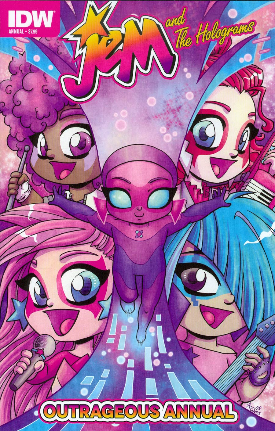Jem And The Holograms Outrageous Annual #1 Cover A Regular Agnes Garbowska Cover