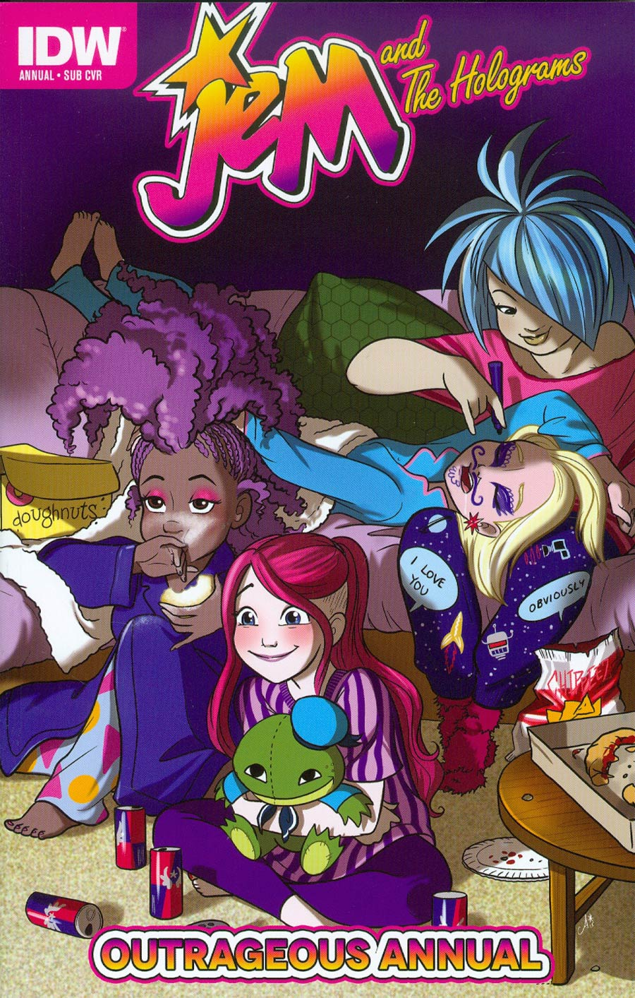 Jem And The Holograms Outrageous Annual #1 Cover B Variant Amy Mebberson Jem Babies Cover