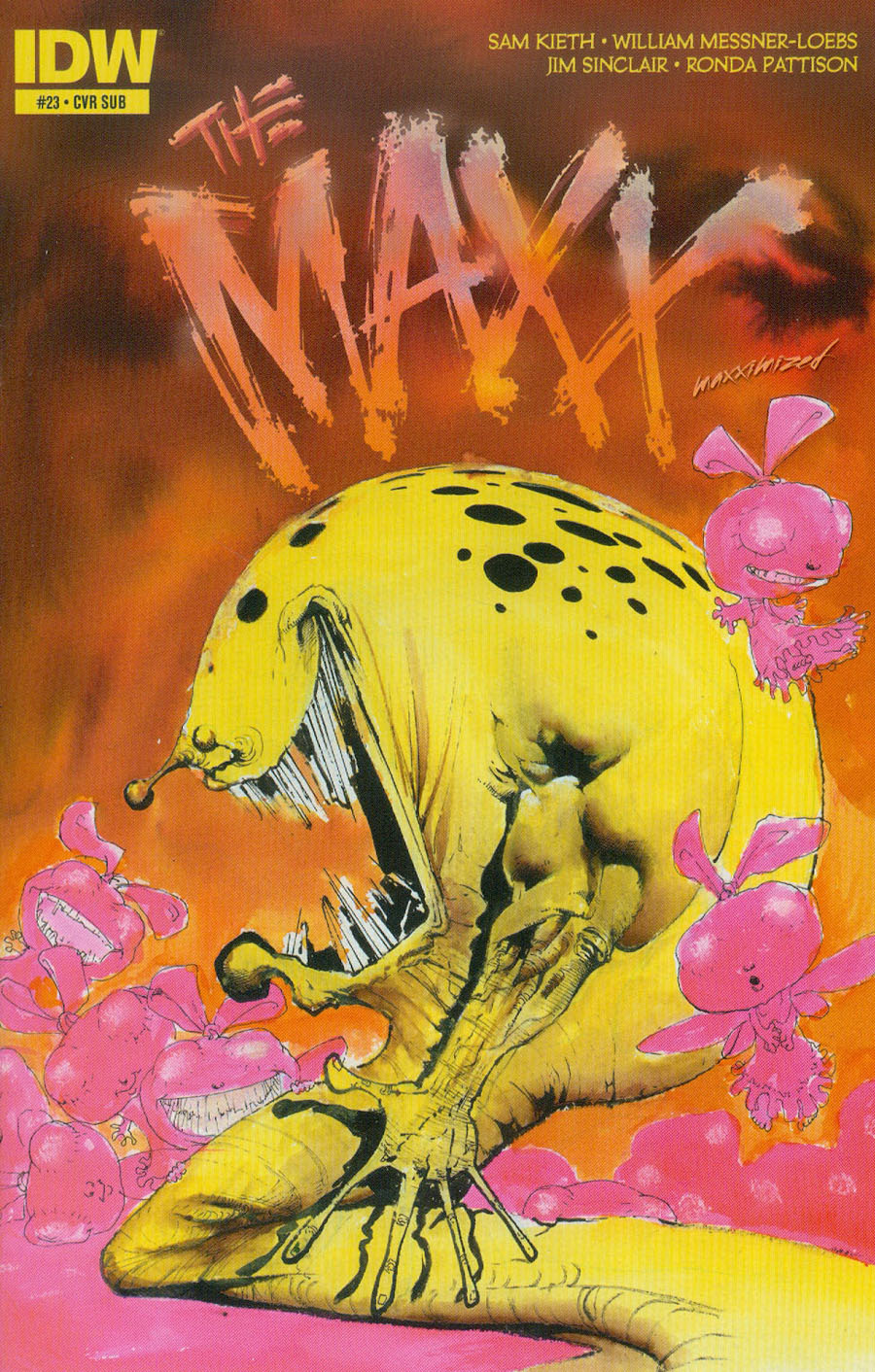 Maxx Maxximized #23 Cover B Variant Sam Kieth Subscription Cover