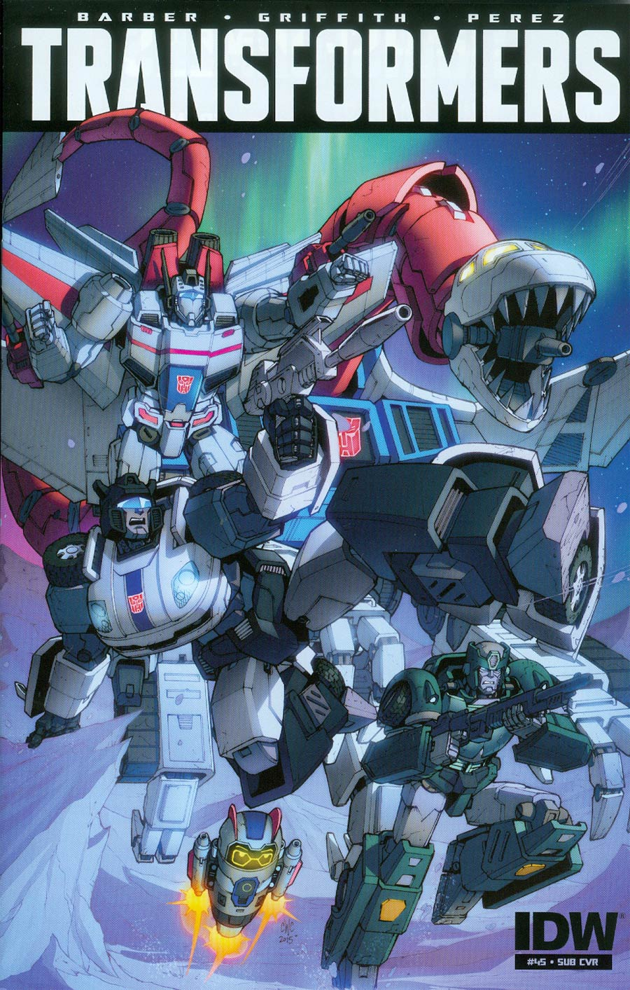 Transformers Vol 3 #45 Cover B Variant Casey W Coller Subscription Cover