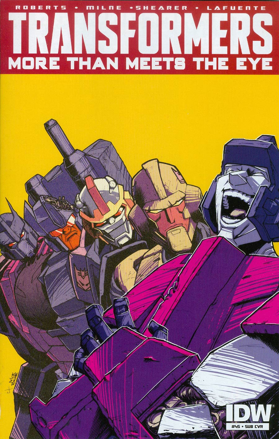 Transformers More Than Meets The Eye #45 Cover B Variant Nick Roche Subscription Cover