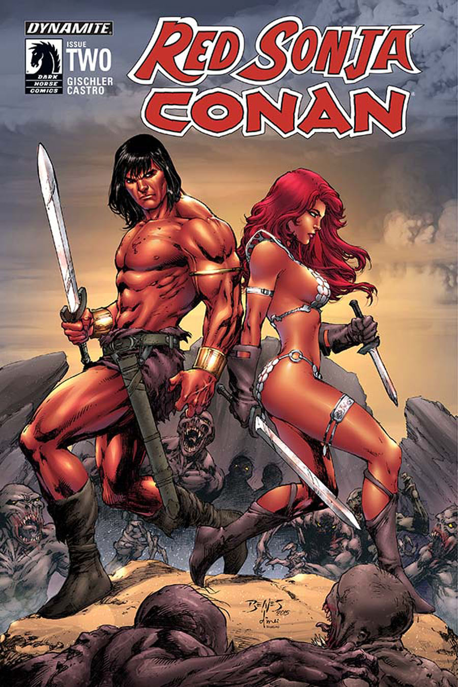Red Sonja Conan #2 Cover A Regular Ed Benes Cover