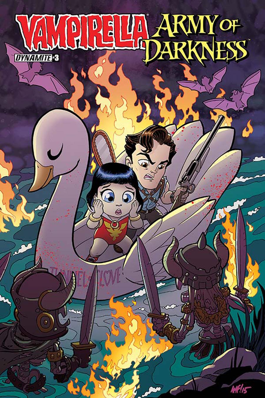 Vampirella Army Of Darkness #3 Cover B Variant Tony Fleecs Subscription Cover
