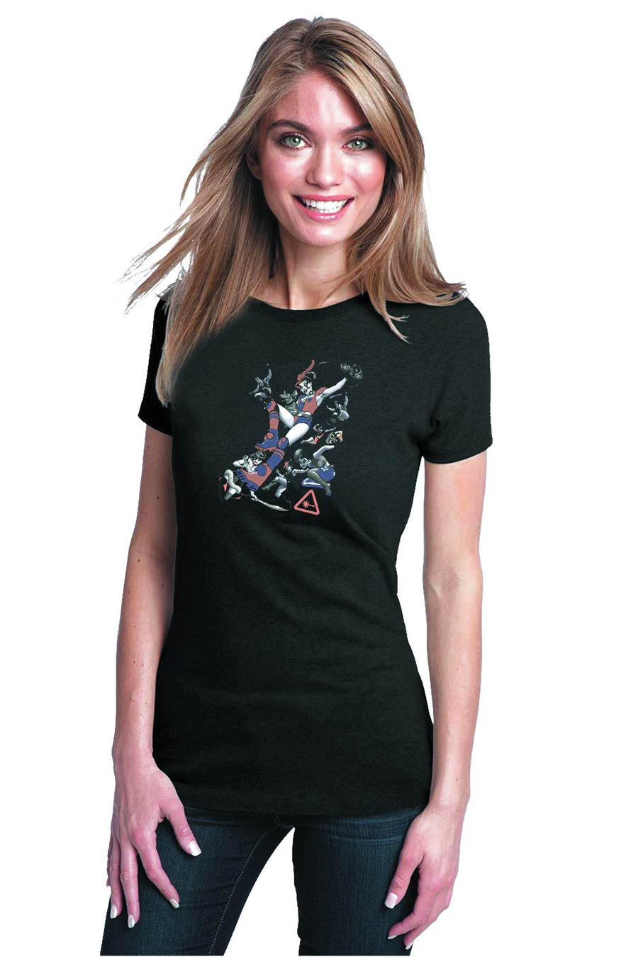 DC You Harley Quinn Womens T-Shirt Large