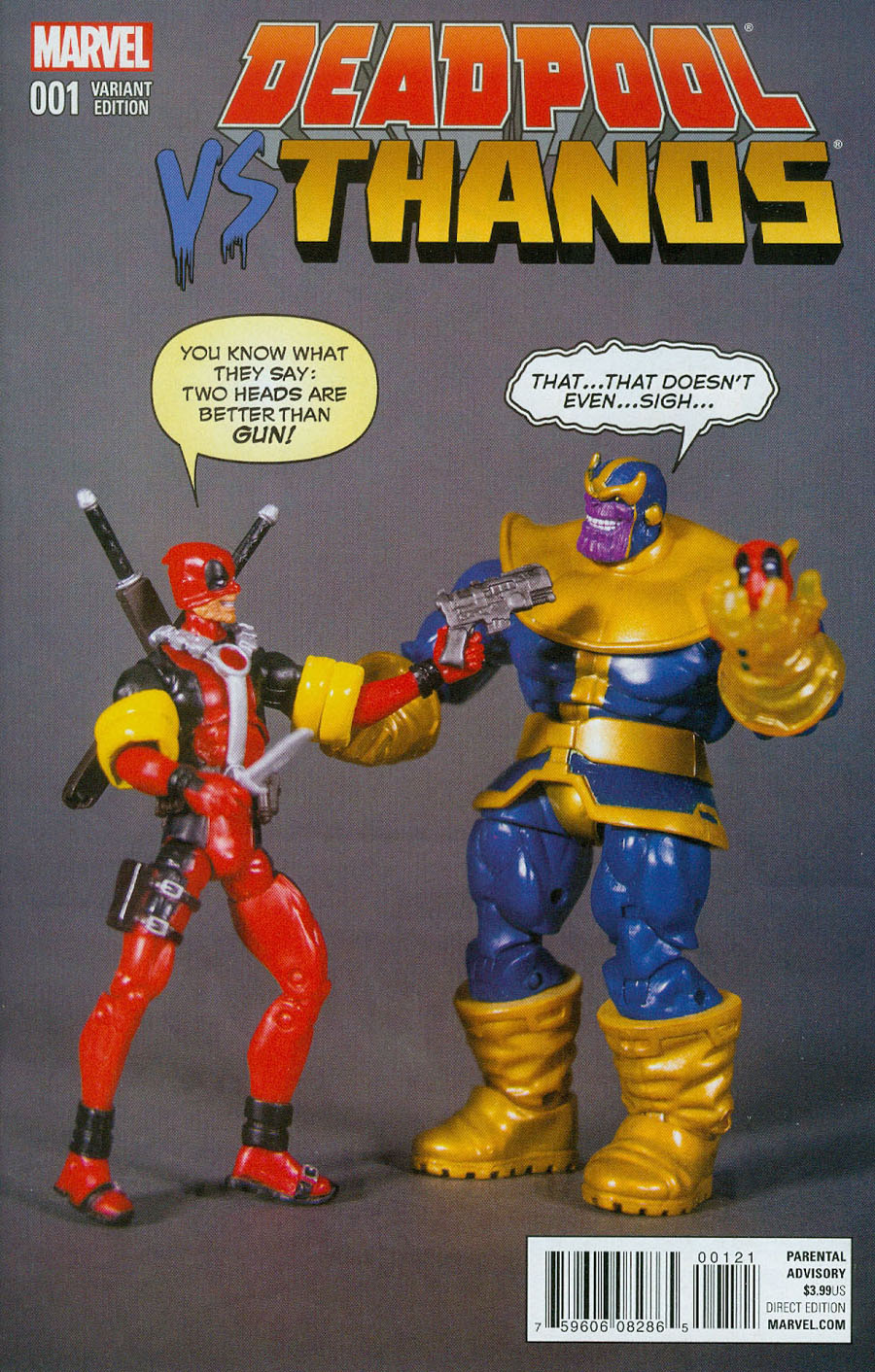 Deadpool vs Thanos #1 Cover C Variant Axel Alonso Action Figure Cover