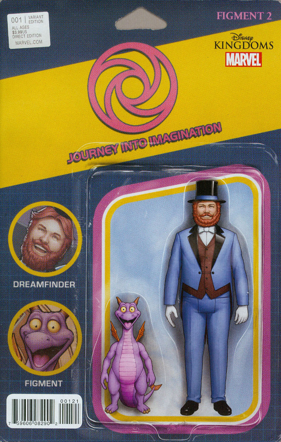 Disney Kingdoms Figment 2 #1 Cover B Variant John Tyler Christopher Action Figure Cover