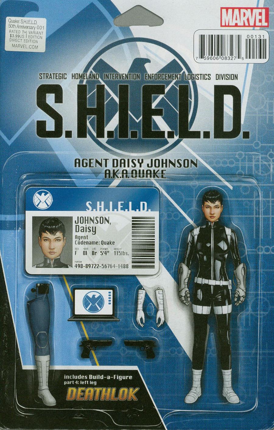 Quake S.H.I.E.L.D. 50th Anniversary #1 Cover C Variant John Tyler Christopher Action Figure Cover