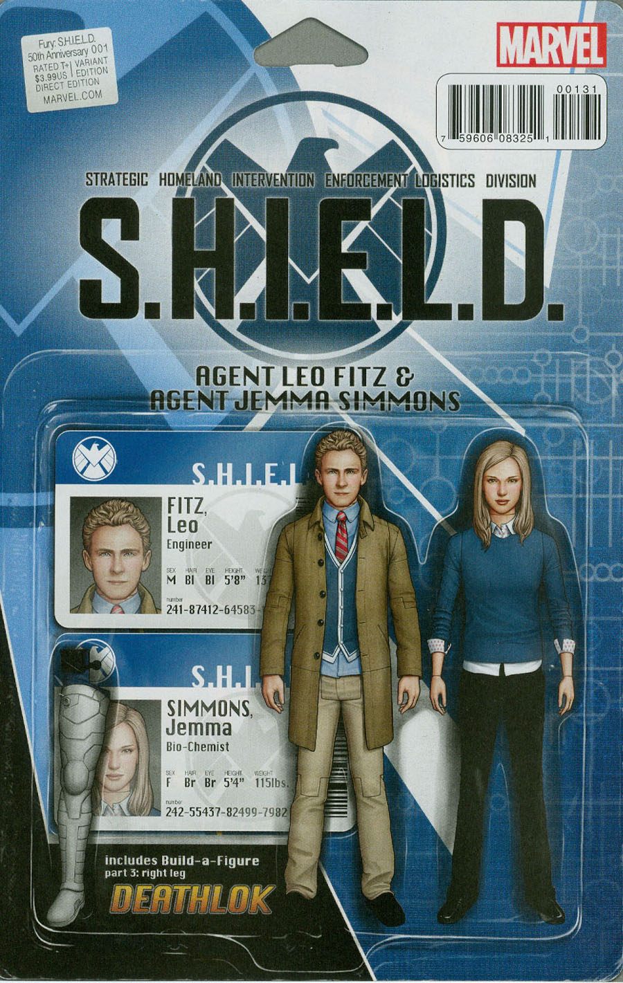 Fury S.H.I.E.L.D. 50th Anniversary #1 Cover C Variant John Tyler Christopher Action Figure Cover