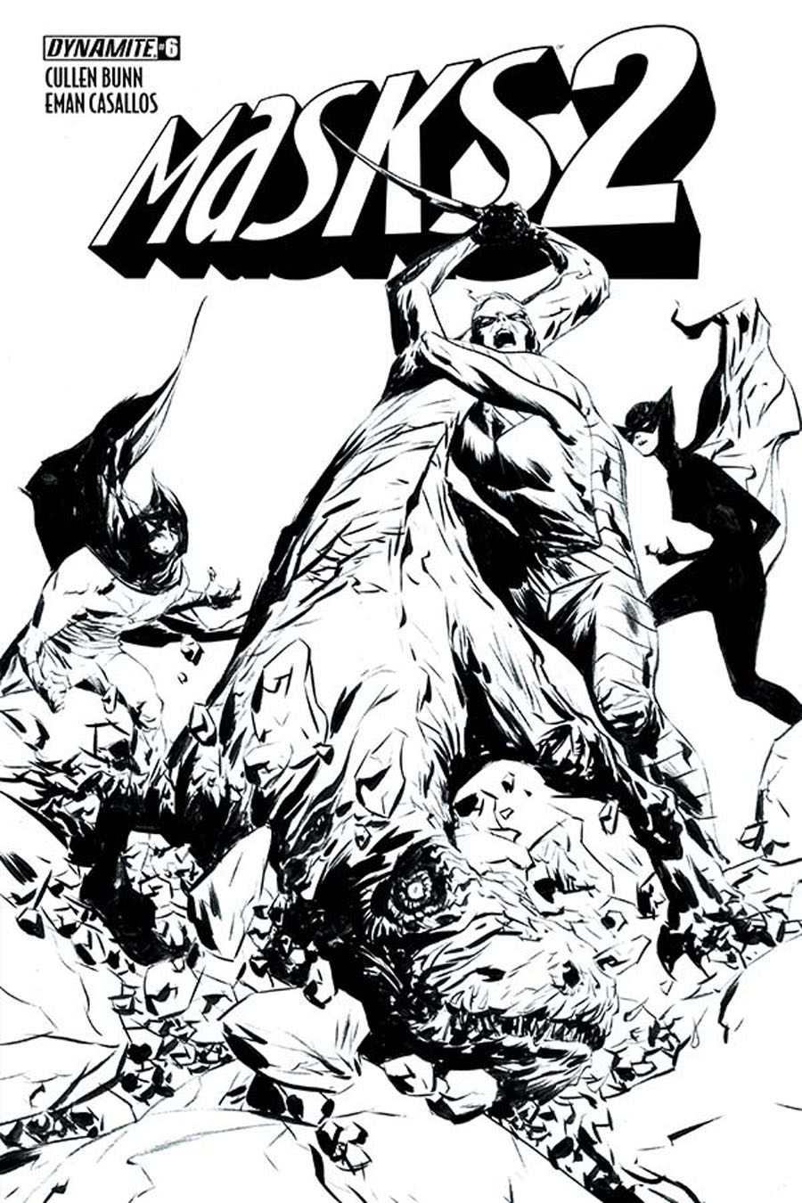 Masks 2 #6 Cover F Incentive Jae Black & White Cover