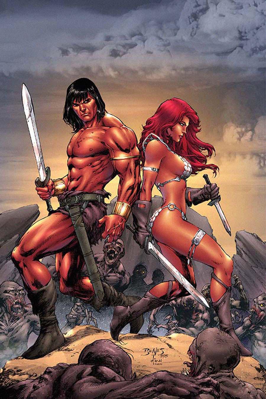 Red Sonja Conan #2 Cover D Rare Ed Benes Virgin Cover