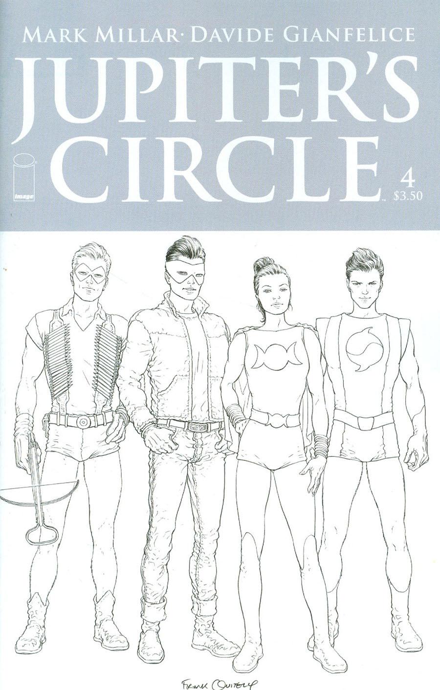 Jupiters Circle #4 Cover C Variant Frank Quitely Black & White Cover