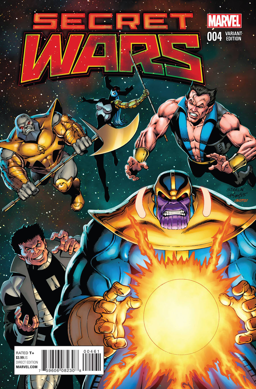 Secret Wars #4 Cover H Incentive Jim Starlin Variant Cover
