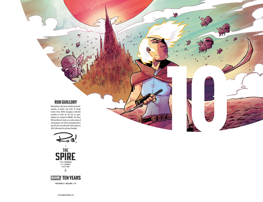 Spire #1 Cover C Incentive Rob Guillory BOOM 10 Years Anniversary Virgin Variant Cover