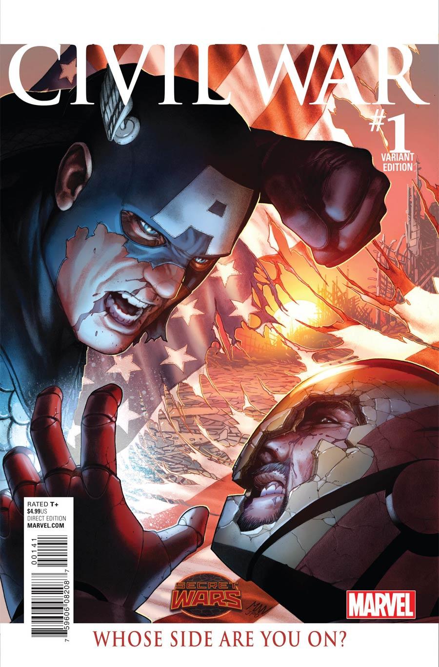 Civil War (Secret Wars) #1 Cover G Incentive Steve McNiven Variant Cover (Secret Wars Warzones Tie-In)