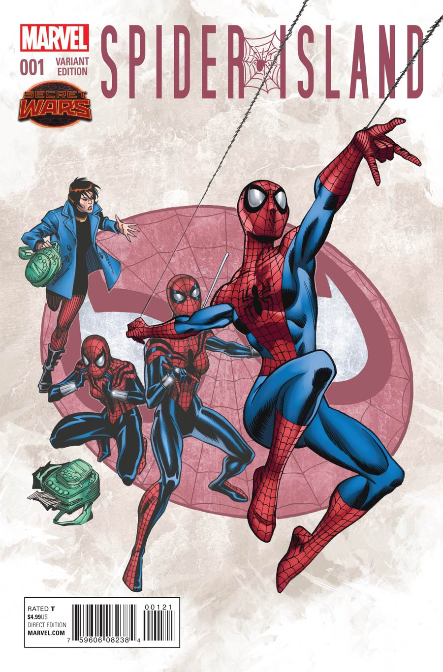 Spider-Island #1 Cover B Incentive Ron Frenz Variant Cover (Secret Wars Warzones Tie-In)