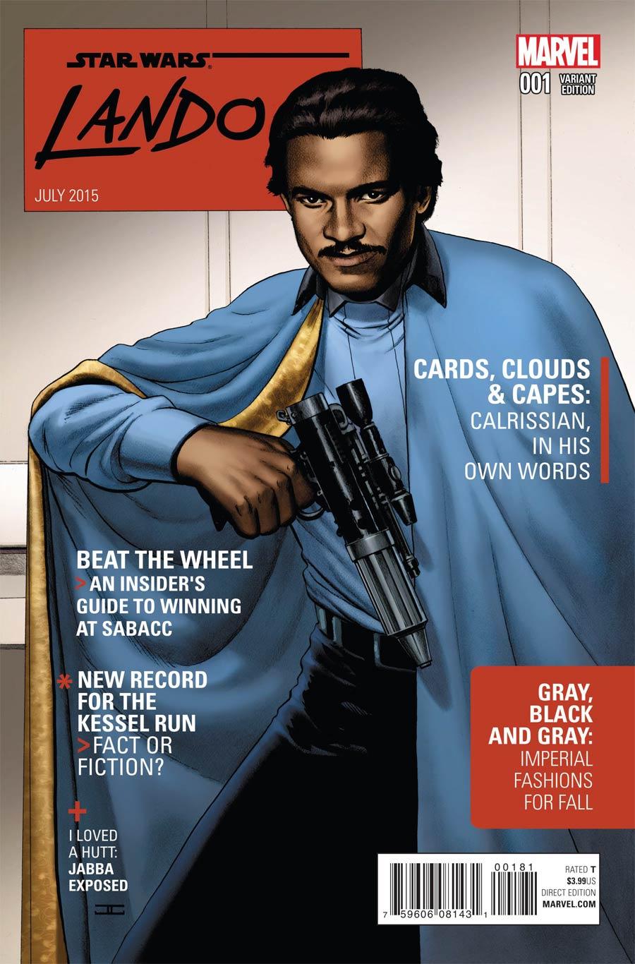 Star Wars Lando #1 Cover I Incentive John Cassaday Variant Cover